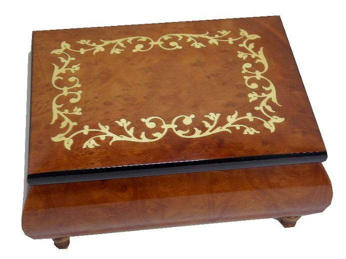Elm Scroll Musical Jewellery Box and Jewellery Boxes, available from The Music Box Shop, UK.